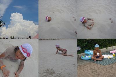 人口の砂浜