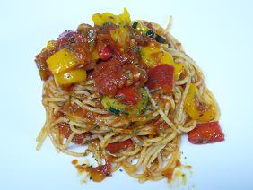 夏野菜のサルサパスタ