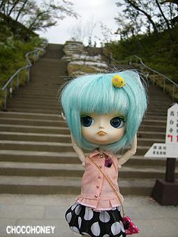 長~い階段!