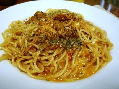 081017 トマトツナスパゲティ