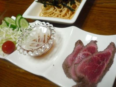 081022 サラダ・牛たたき