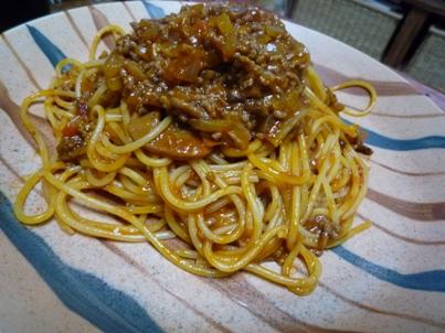 081101 ミートソーススパゲティ