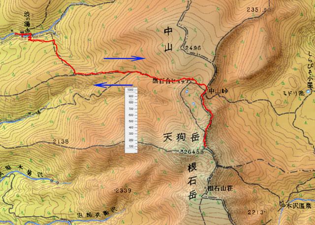 天狗岳・地図