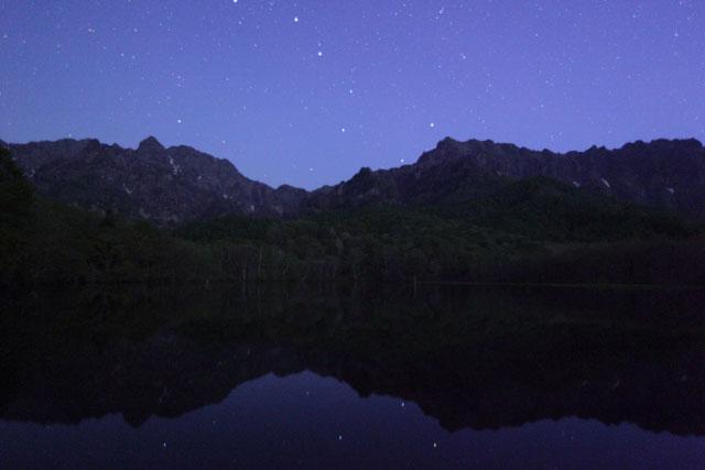 鏡池と北斗七星