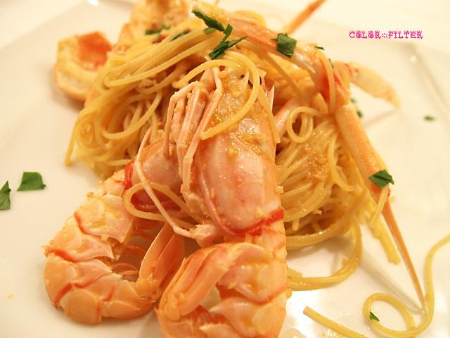 赤座海老のスパゲッティーニ アメリケーヌソース