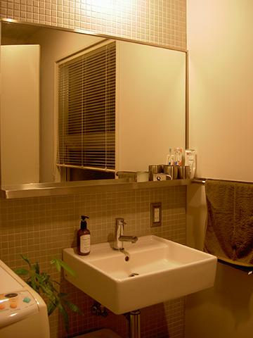 Yさん宅の洗面所