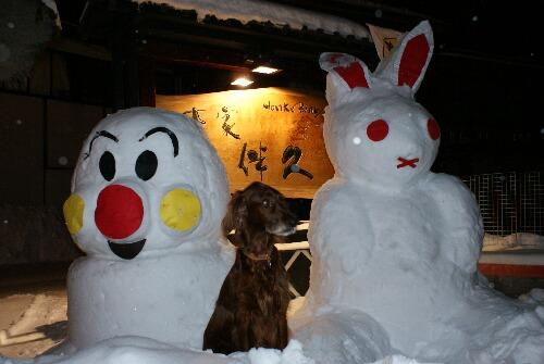 雪だるまとコーク