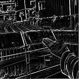 ソーベルフィルター C で画像処理