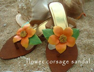 お花のコサージュサンダル
