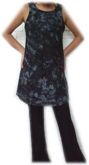 ストレッチ素材 ゴアタンクドレス