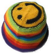 スマイリー帽 レインボー