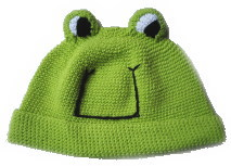 カエルちゃん帽子♪