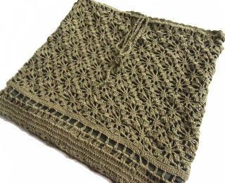 手編みニットスカート