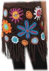 手編みフラワーニットスカート