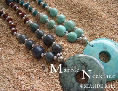 マーブル(大理石)のネックレス