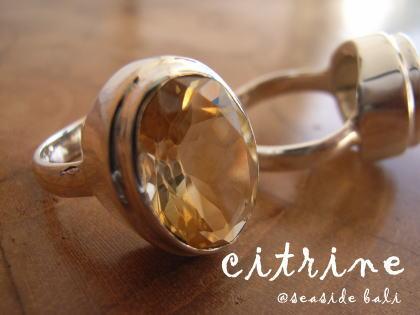 シトリンのリング