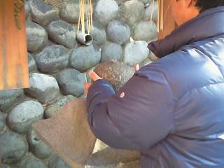 伏見稲荷 おもかる石③