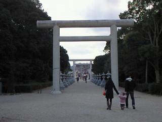 伊弉諾神宮 参道