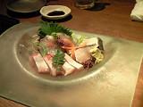縁 春網とれたて鮮魚の3種盛り