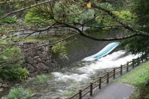 河川増水中!