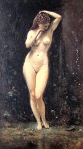水浴するディアナ
