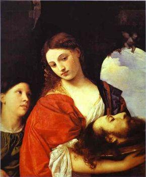 ティティアン 洗礼者ヨハネの首を持つサロメ