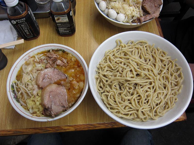 大つけ麺 麺増し しょうが ヤサイ少なめ アブラ