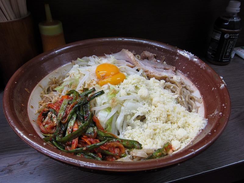 大 汁なし 麺増し大小 ニラキムチ 粉チーズ ¥700+¥80+¥80+¥100