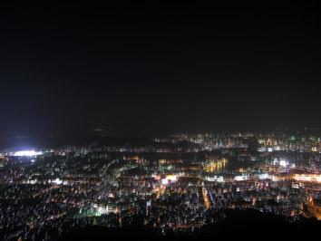 皿倉山から見た夜景