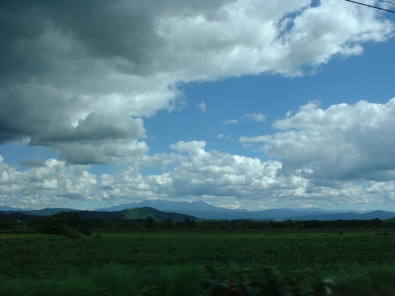 車窓より 曇天