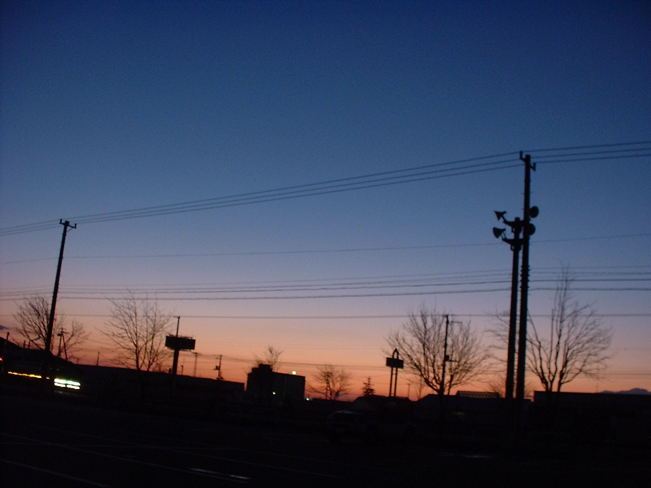 朝焼け駐車場