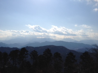 ⑮山頂から富士山方面