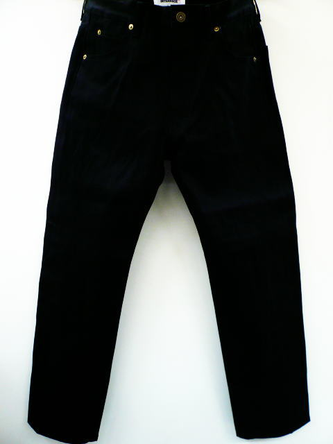 INTERFACE NARROW BLACK DENIM PT