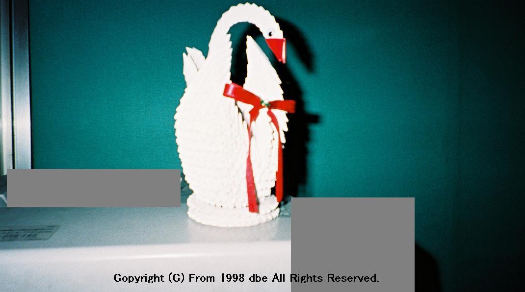 タバコケースで作る造形物 - 白鳥編