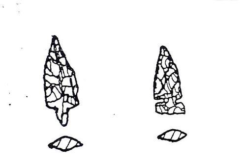 石鏃 実測図小