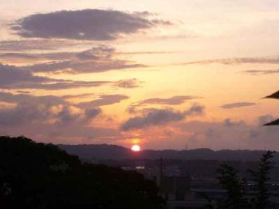 ★日が沈む瞬間です★