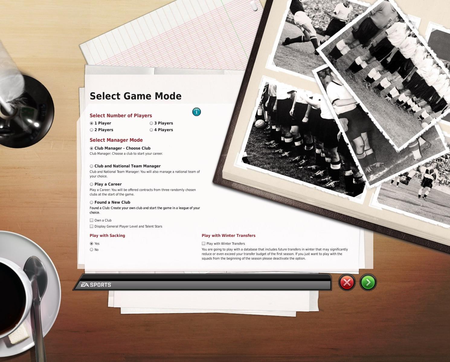 ゲームモード選択画面
