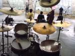 野外ドラムステージ