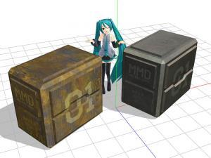 MMD用アクセサリ「SFっぽいコンテナ」サンプル画像1