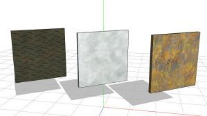 MMDアクセサリ「鉄板(金属板)セット」サンプル画像