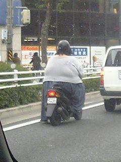 バイクがかわいそう