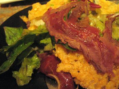 牛肉のカルパッチョ マンハッタンスタイルベジタブル添え