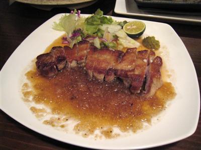 多胡の里豚のステーキ