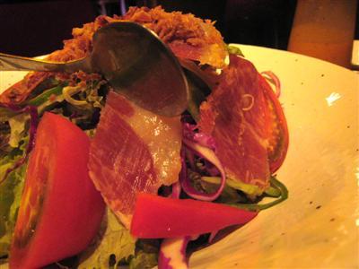 スペイン産生ハムのサラダ