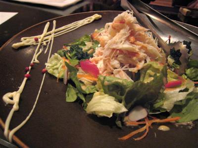 ズワイガニのサラダ