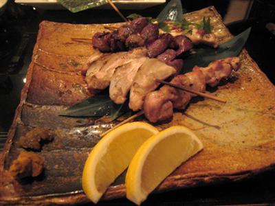 富士高原鶏の串焼きたち