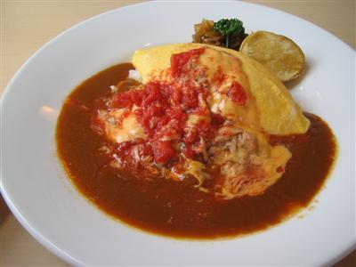 ツナトマトオムレツカレー