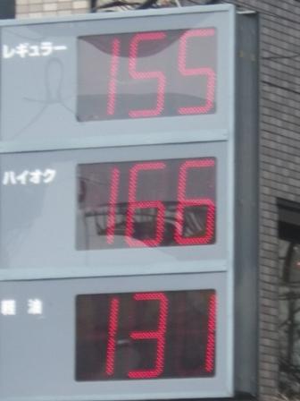 2012.3.16 今日のガソリン価格