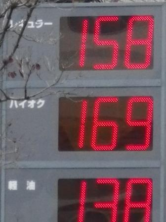 2012.3.23 今日のガソリン価格