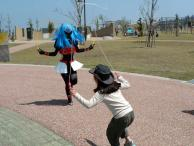 エリスと縄跳び^^